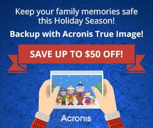50% jul-rabatt på Acronis True Image Cloud backup