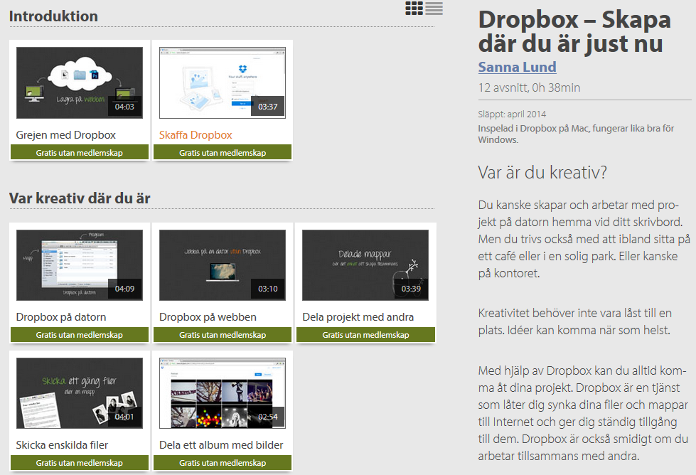 Moderskeppet gratiskurs Dropbox